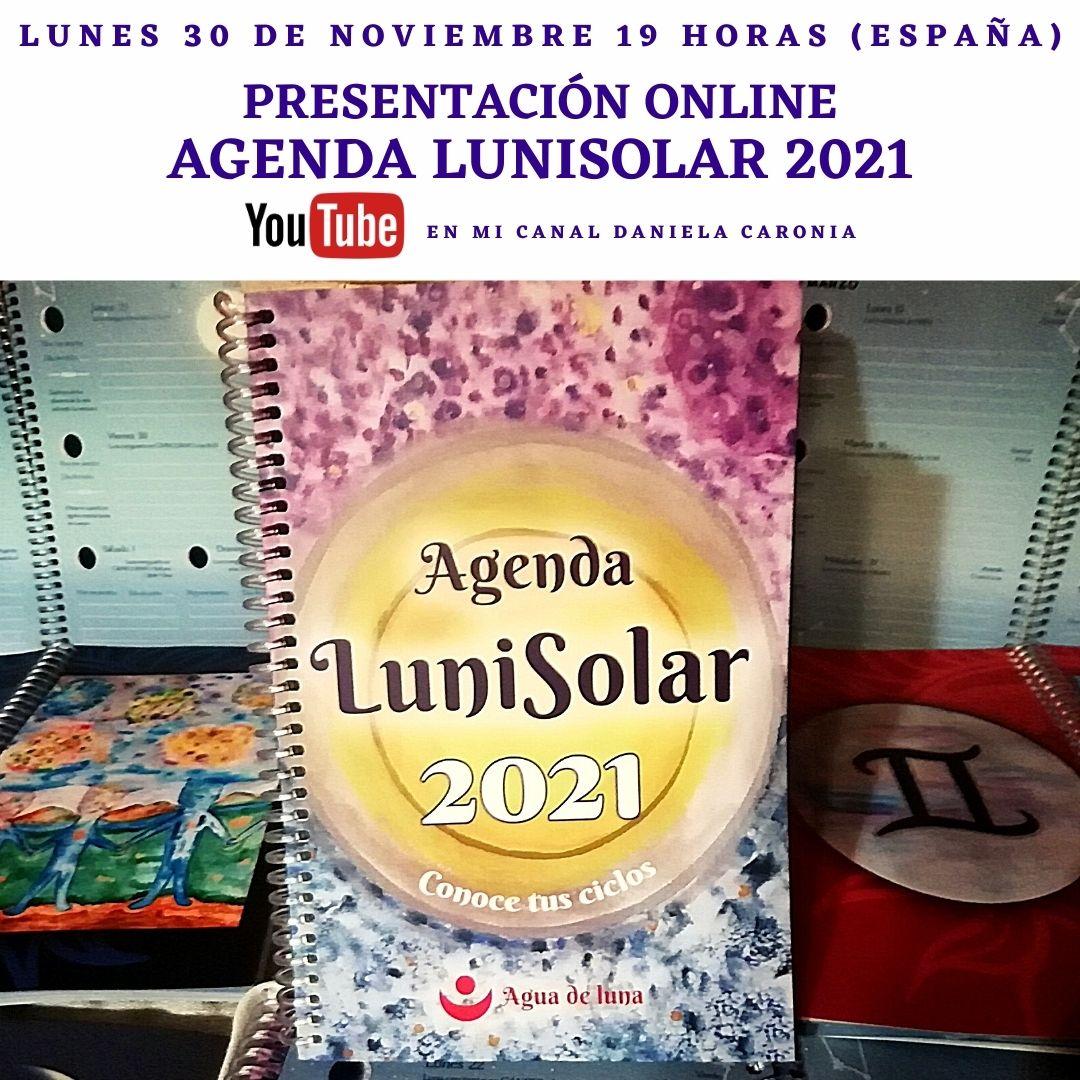 Presentación Agenda LuniSolar 2021 lunes 30 de noviembre