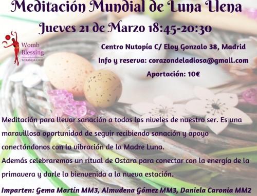 Meditación Mundial de Luna Llena y Equinoccio de primavera-21 de Marzo