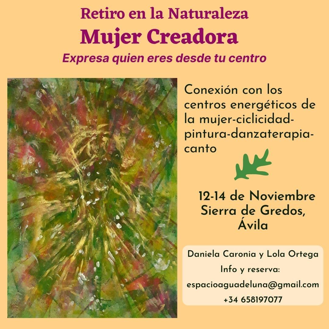 Retiro en la Naturaleza «Mujer Creadora» 12-14 de Noviembre